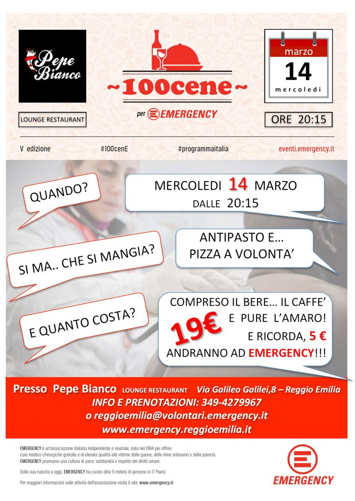 100 Cene Reggio Emilia