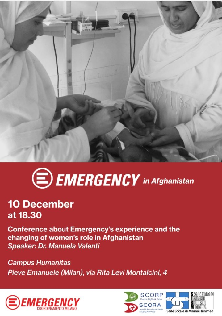 emergency in afghanistan, 10 dicembre , campo humanitas