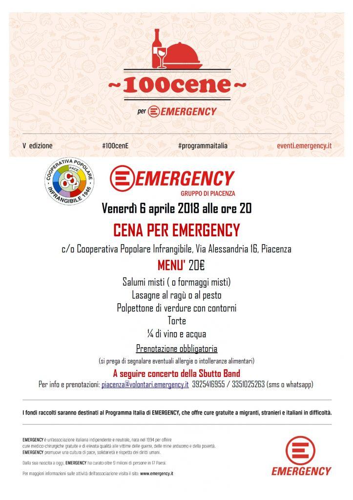 Cena per Emergency - Potenza