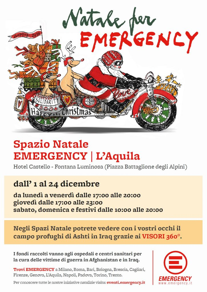 Spazio Natale Emergency L'Aquila
