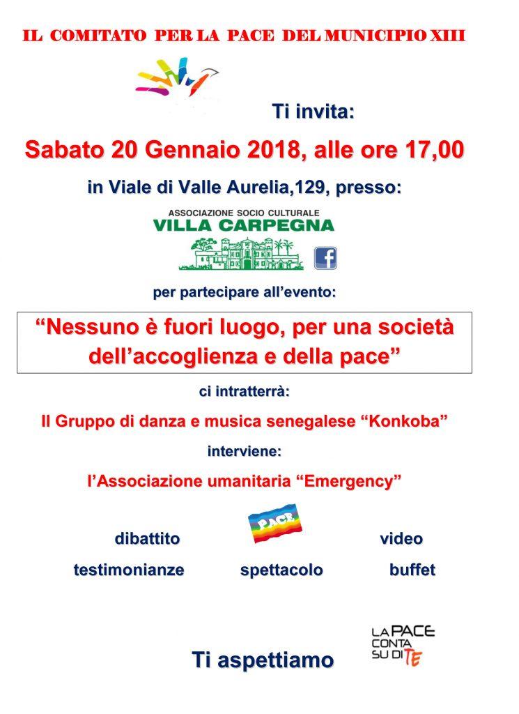 Locandina evento 20 Gennaio 2018_Comitato per la Pace