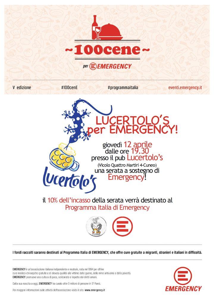 Lucertolo's per Emergency