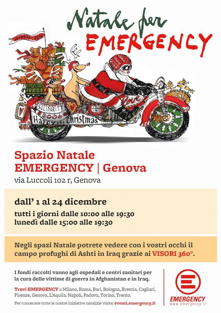 Spazio Natale Emergency Genova