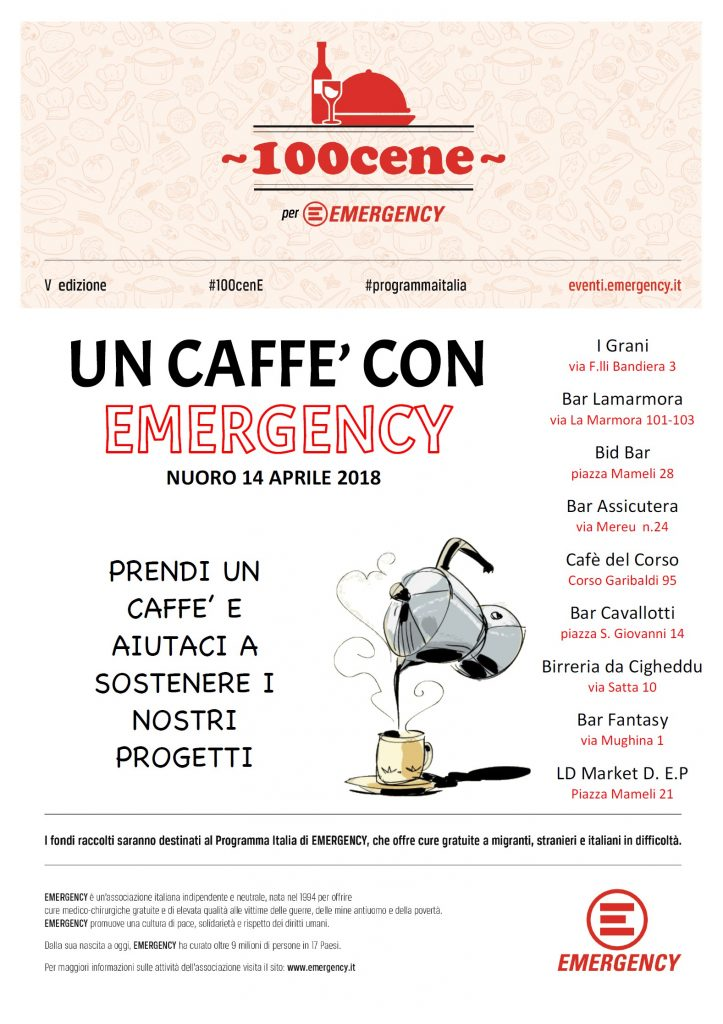 Un caffè con Emergency