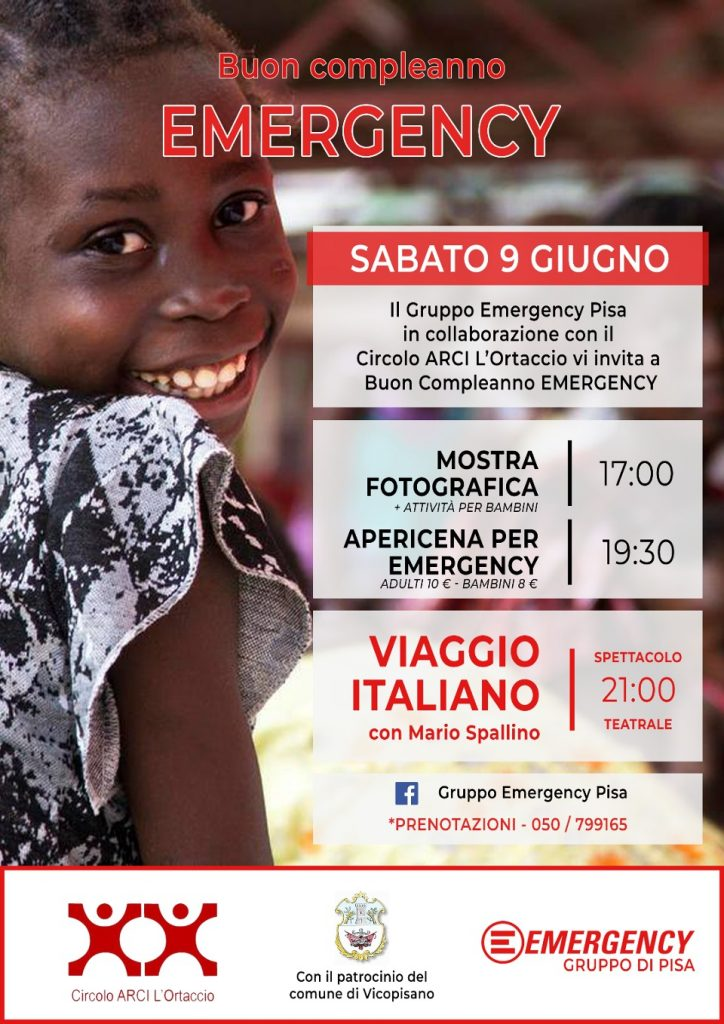 Buon compleanno emergency pisa 2018