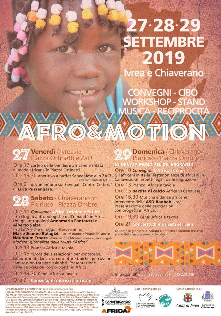 Manifesto Afro&Motiono 2019 - Ivrea (TO)