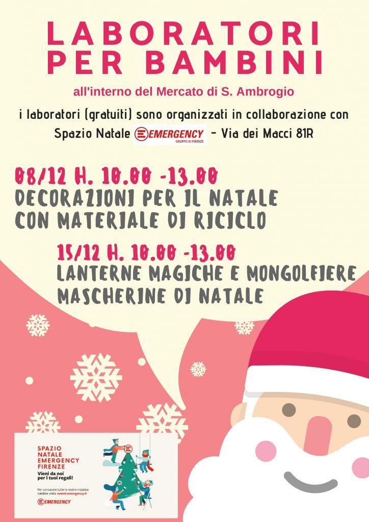 Emergency Regali Di Natale.Laboratorio Per Bambini Spazio Natale Firenze Emergency Eventi