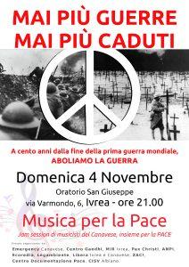 Musica per la pace - Ivrea Canavese (To) 4 nov. 2018